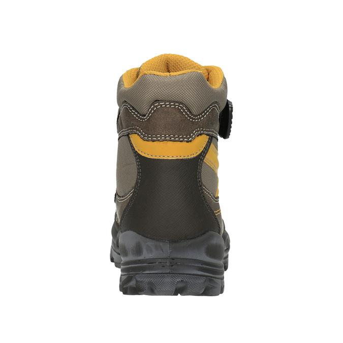 Detská zimná obuv na suchý zips mini-b, hnedá, 499-3103 - 17