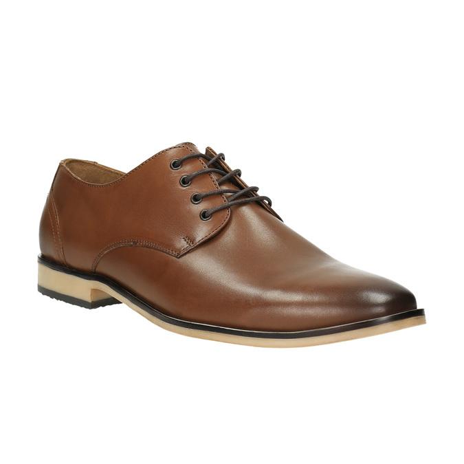 Ležérne kožené poltopánky hnedé bata, hnedá, 826-3653 - 13