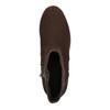Členková obuv na flatforme bata, hnedá, 699-4601 - 19