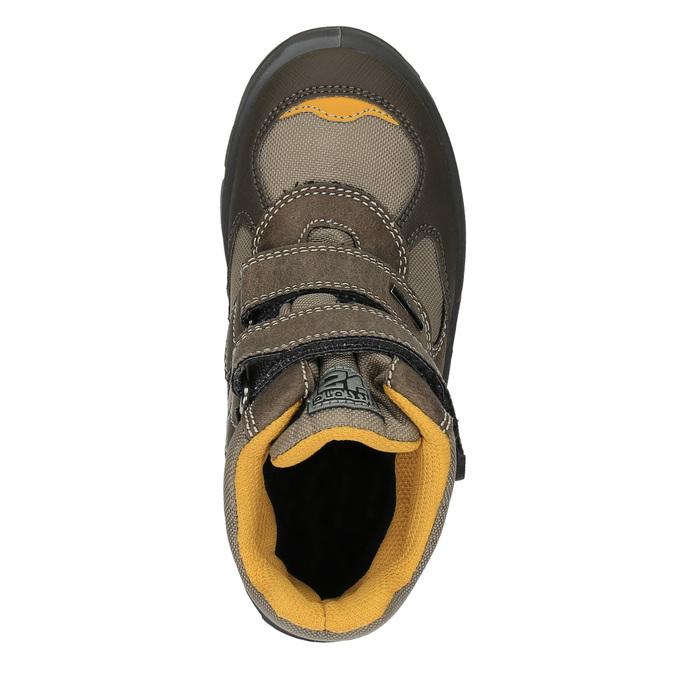 Detská zimná obuv na suchý zips mini-b, hnedá, 499-3103 - 19