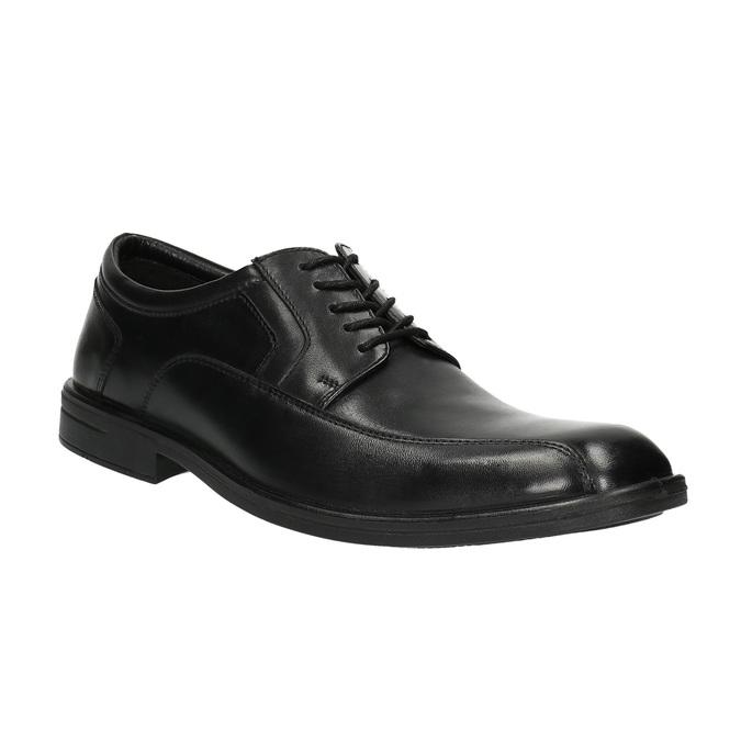 Pánske kožené poltopánky bata, čierna, 824-6744 - 13