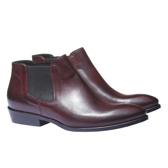 Kožené topánky v Chelsoa štýle bata, červená, 594-5106 - 26
