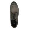 Členková obuv z brúsenej kože bata, šedá, 846-6611 - 19