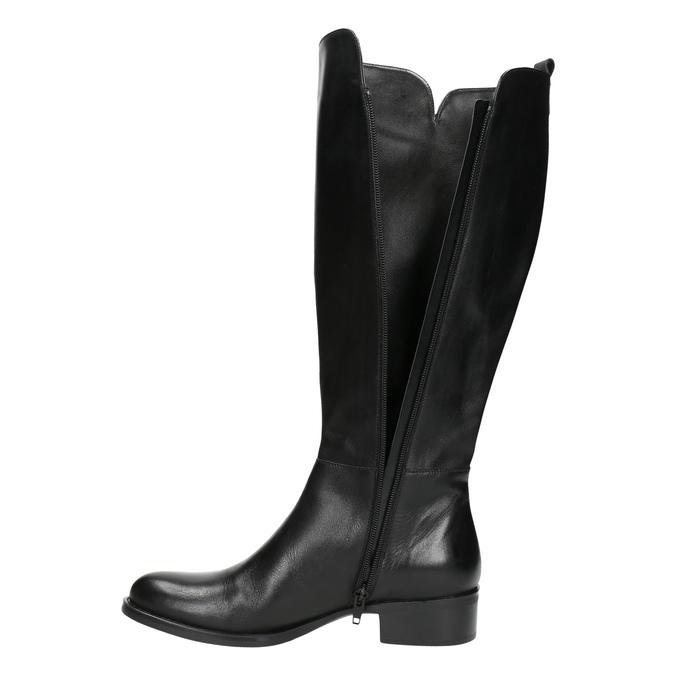 Dámske kožené čižmy bata, čierna, 594-6586 - 26