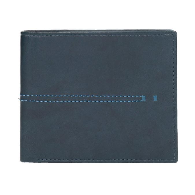 Kožená peňaženka s prešívaním bata, modrá, 944-9176 - 26
