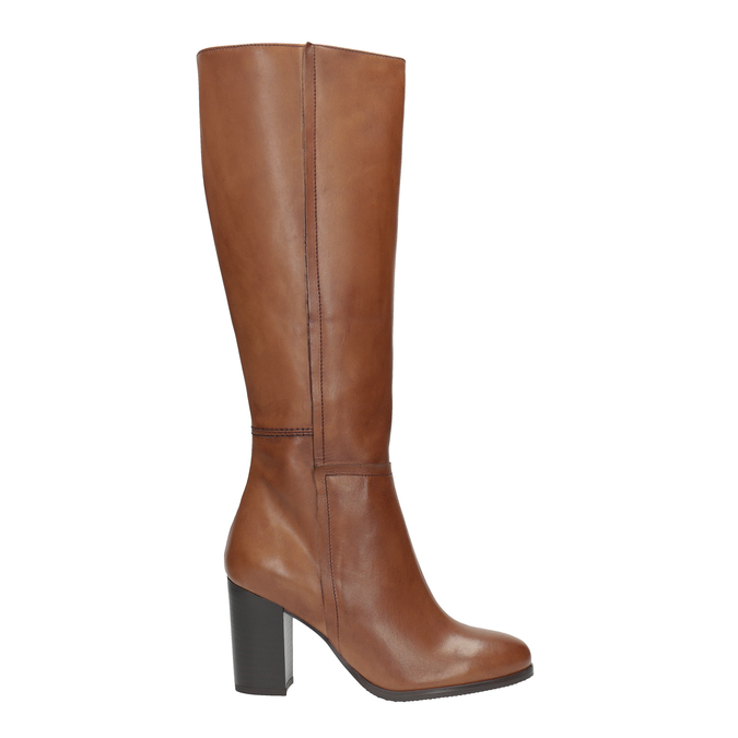 Dámské kožené čižmy bata, hnedá, 794-4447 - 15