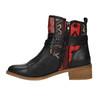 Členková obuv s Etno vzorom bata, čierna, 599-6604 - 26
