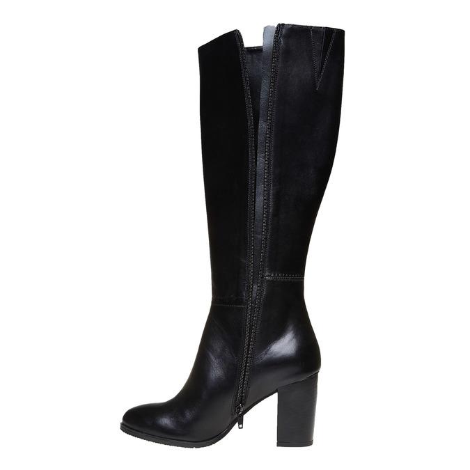 Kožené dámske čižmy bata, čierna, 794-6447 - 19