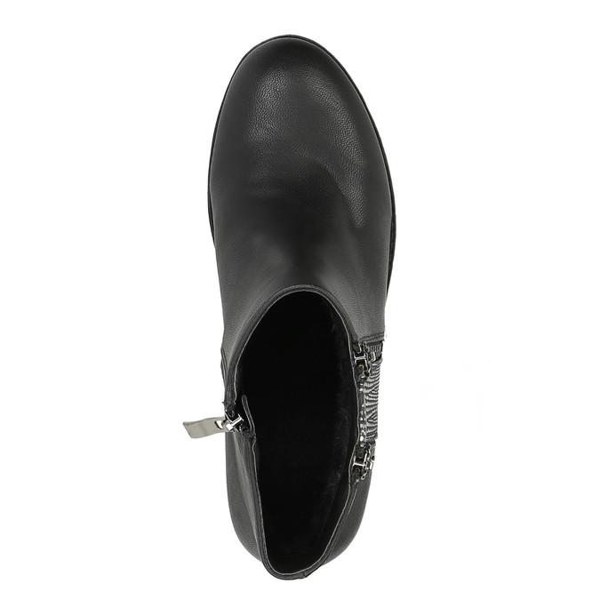 Dámska členková  obuv so zipsami bata, čierna, 591-6612 - 19