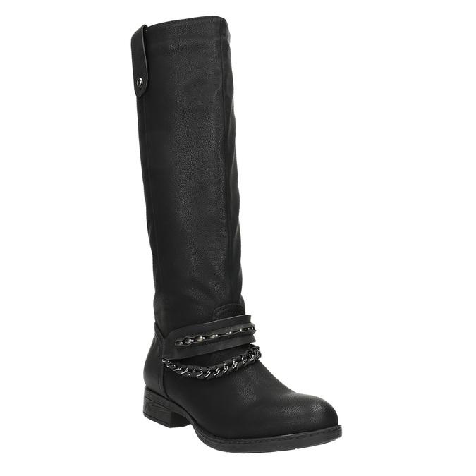 Dámske čižmy bata, čierna, 591-6611 - 13