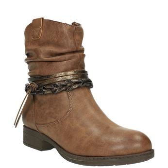 Dámske členkové čižmy bata, hnedá, 591-4610 - 13