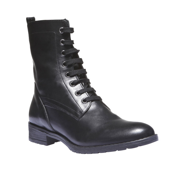 Členková obuv s výraznou podošvou bata, čierna, 594-6211 - 13