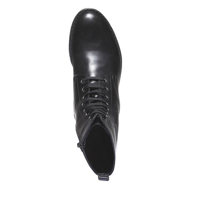 Členková obuv s výraznou podošvou bata, čierna, 594-6211 - 19