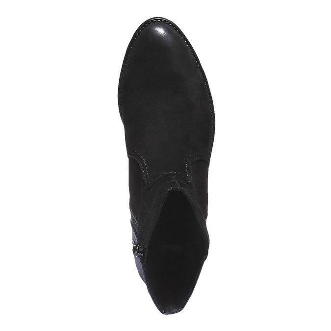 Kožené členkové čižmy bata, čierna, 596-6103 - 19