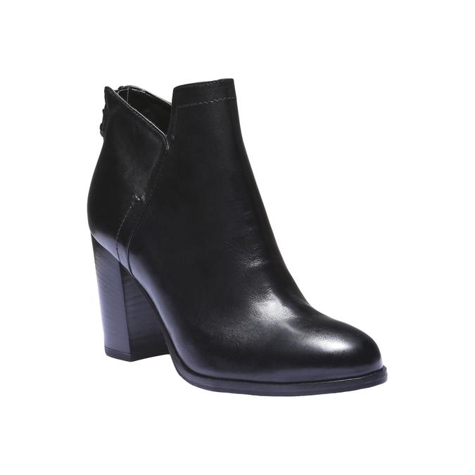 Kožená členková obuv bata, čierna, 794-6576 - 13