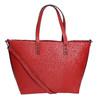 Červená kabelka v Shopper štýle bata, červená, 961-5647 - 19