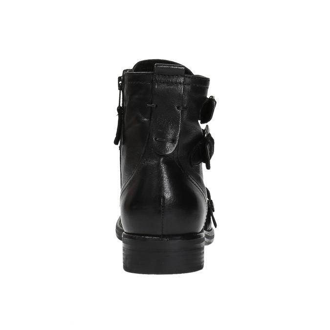 Kožená obuv s prackami bata, čierna, 894-6683 - 17