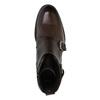 Kožená členková obuv s prackami bata, hnedá, 894-4683 - 19