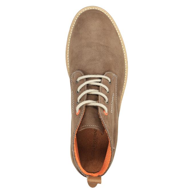 Pánske kožené chukka boots weinbrenner, hnedá, 846-4629 - 19