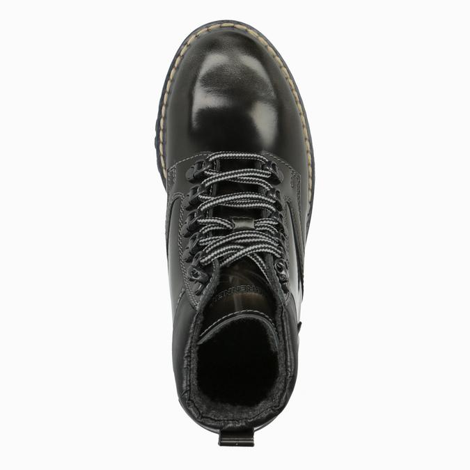 Kožená dámska zimná obuv weinbrenner, zelená, 596-7634 - 19