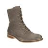 Kožená členková obuv so zateplením bata, šedá, 596-2610 - 13