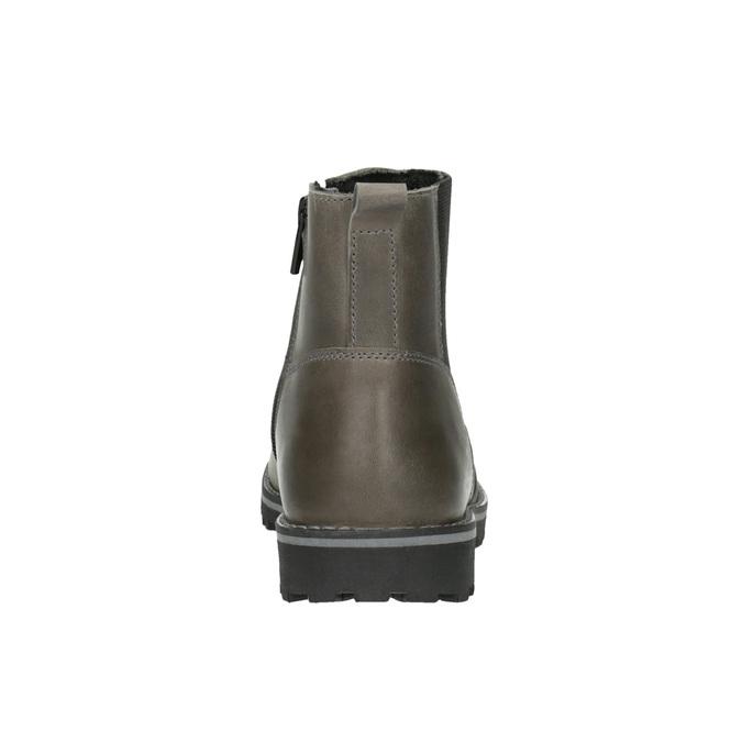 Detská kožená členková obuv mini-b, šedá, 394-2316 - 17