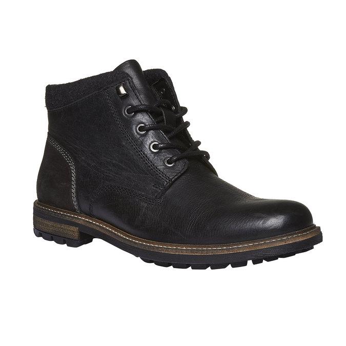 Kožená zimná obuv členková bata, čierna, 894-6133 - 13