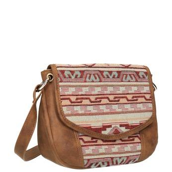 Crossbody kabelka s Etno vzorom bata, hnedá, 969-3642 - 13
