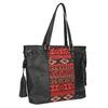 Dámska kabelka v Etno štýle bata, čierna, 961-6669 - 13