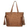 Dámska kabelka v Etno štýle bata, hnedá, 961-3669 - 26