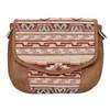 Crossbody kabelka s Etno vzorom bata, hnedá, 969-3642 - 19