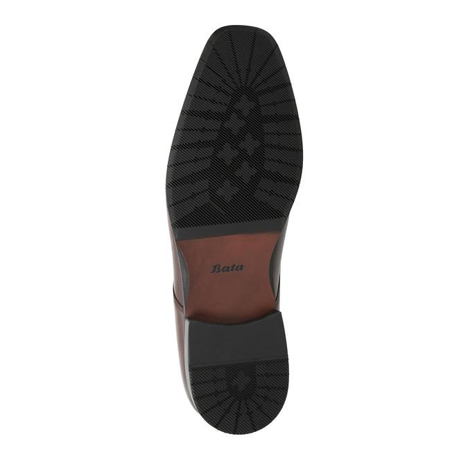 Kožené pánske Derby poltopánky bata, hnedá, 824-4752 - 26