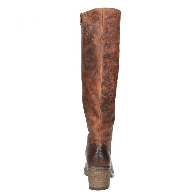 Vysoké kožené čižmy vo Western štýle bata, hnedá, 696-3608 - 17