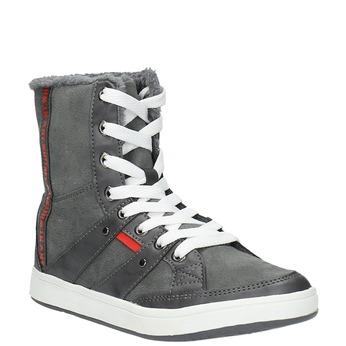 Dámska členková obuv s kožúškom bata, šedá, 599-2606 - 13