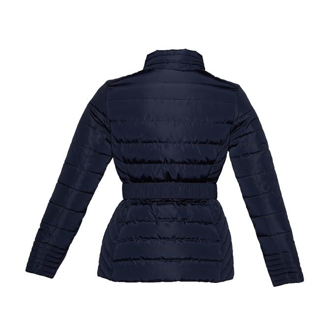 Dámska bunda so sponou bata, modrá, 979-9640 - 26