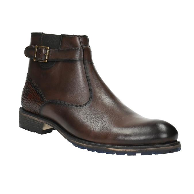 Členková pánska obuv s prackou bata, hnedá, 894-4652 - 13