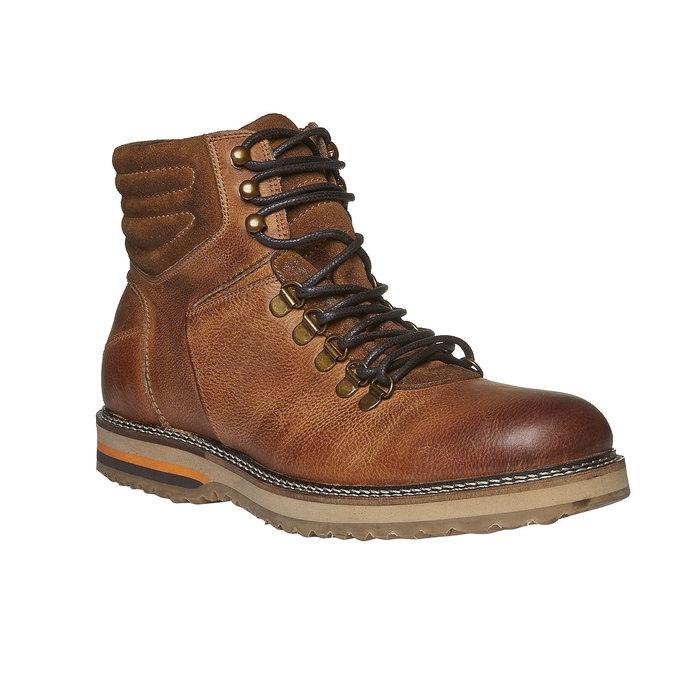 Zimné kožené topánky k členkom bata, hnedá, 894-3100 - 13