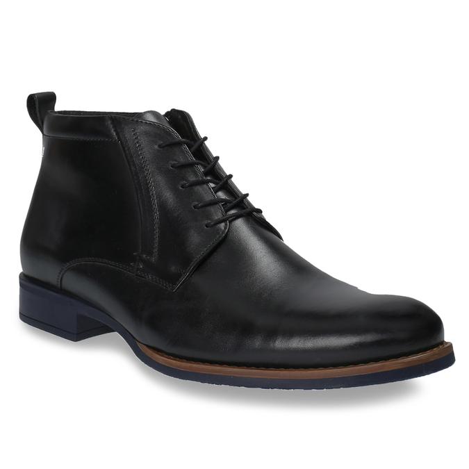 Kožená členková obuv so zateplením conhpol, čierna, 894-6679 - 13