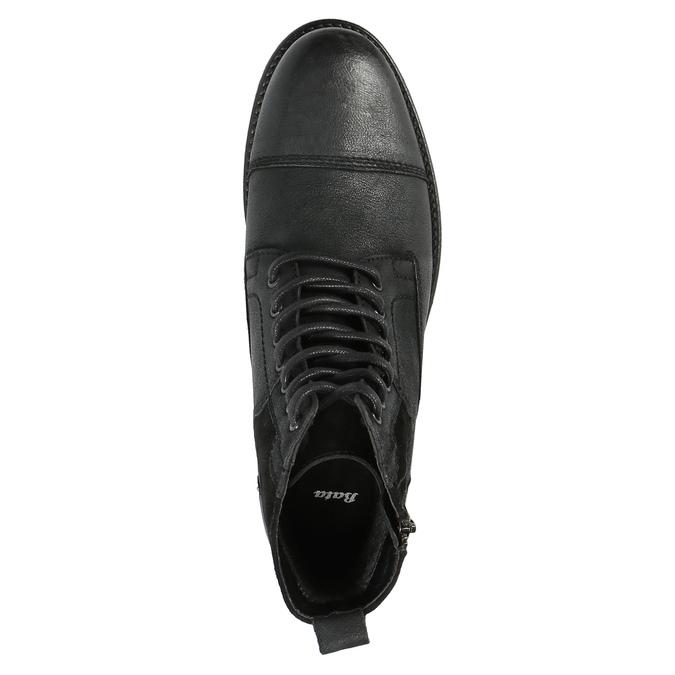 Kožená pánska obuv bata, čierna, 896-6642 - 19