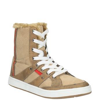 Dámska členková obuv s kožúškom bata, hnedá, 599-4606 - 13