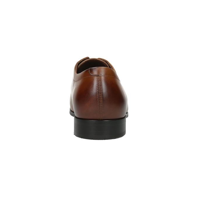 Pánske kožené poltopánky v Derby štýle bata, hnedá, 826-4736 - 17