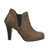 Členkové čižmy na podpätku s pružnými bokmi bata, béžová, 799-2601 - 15