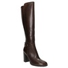 Kožené čižmy na podpätku bata, hnedá, 794-4637 - 13