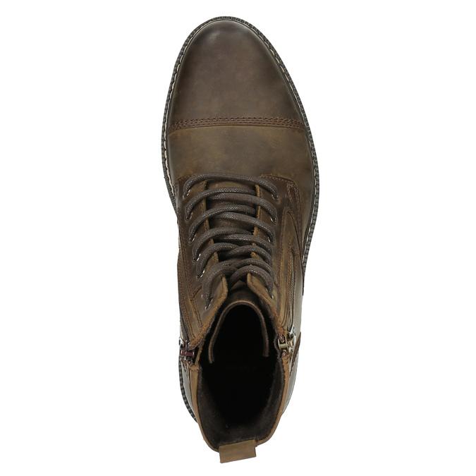 Kožená členková obuv bata, hnedá, 896-4641 - 19