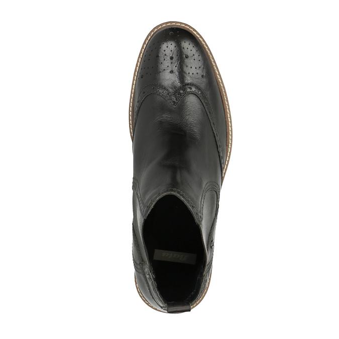Pánske Chelsoa Boots so zdobením bata, čierna, 894-6645 - 19