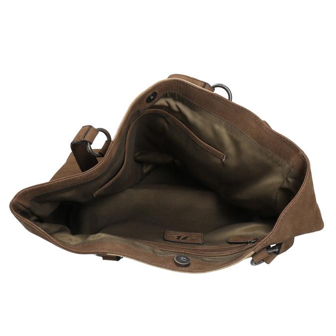 Dámska kožená kabelka bata, žltá, 966-8200 - 15