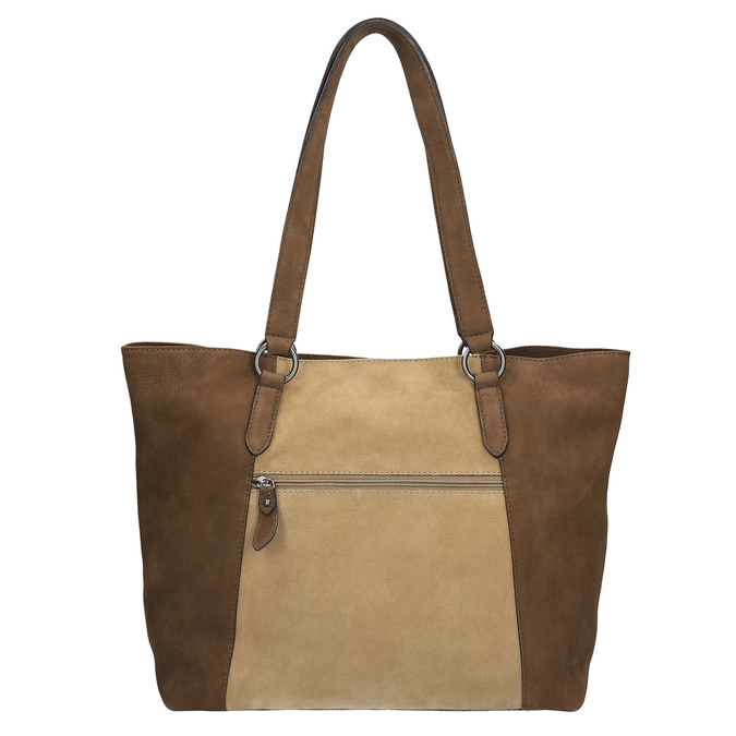 Dámska kožená kabelka bata, žltá, 966-8200 - 26