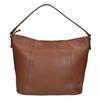 Kožená kabelka v Hobo štýle bata, hnedá, 964-3206 - 26