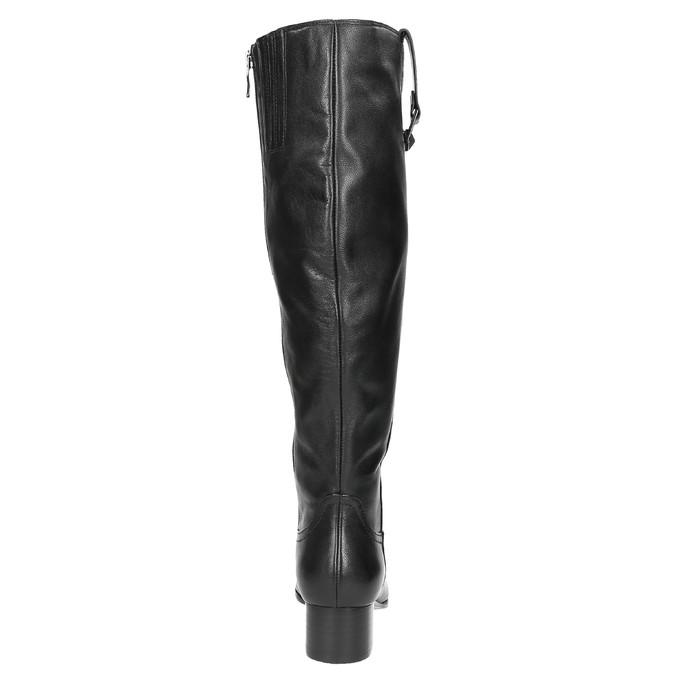 Dámské kožené čižmy na nízkom podpätku bata, čierna, 694-6631 - 17