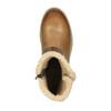 Kožená zimná obuv s kožúškom bata, hnedá, 594-4609 - 19
